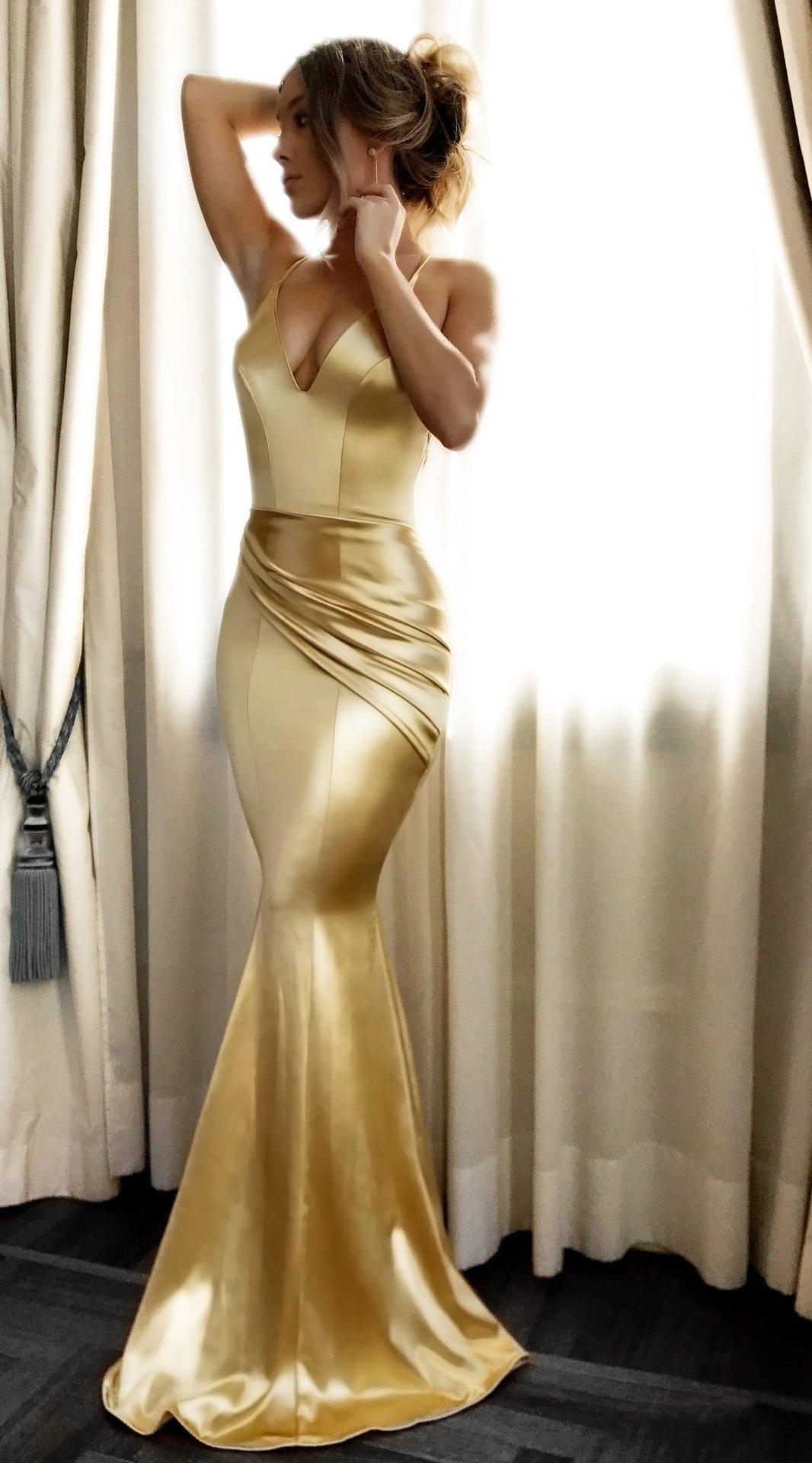 gold mermaid dress