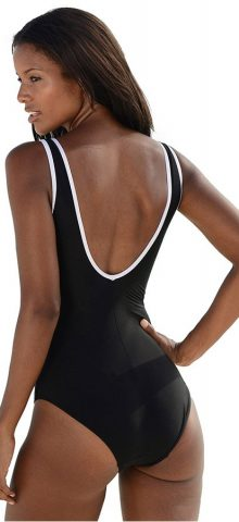 Hualong Summer Sporty Fitted Black Full Piece Swimsuit