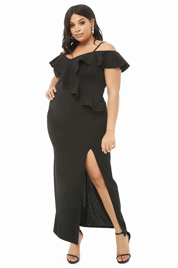 1f43e311f0b Plus Size Ruffle Dress with off the shoulder design meta name ...