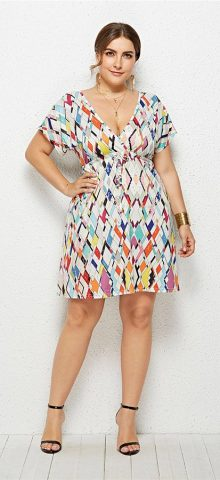 Hualong Cute Floral Printed Cheap Plus Size Summer Dresses 11