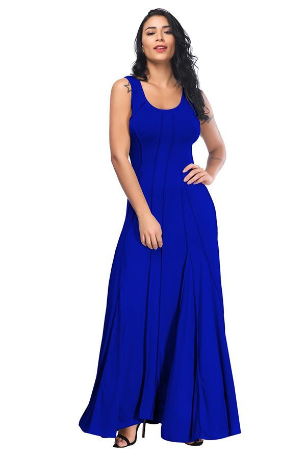 Hualong Cute Sleeveless Long Petite Plus Size Dresses