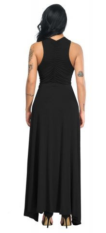 Hualong Sexy Off The Shoulder Sleeveless Black Plus Size Occasion Dresses