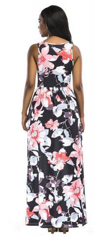 Hualong Cheap Cute Sleeveless Casual Floral Maxi Dress