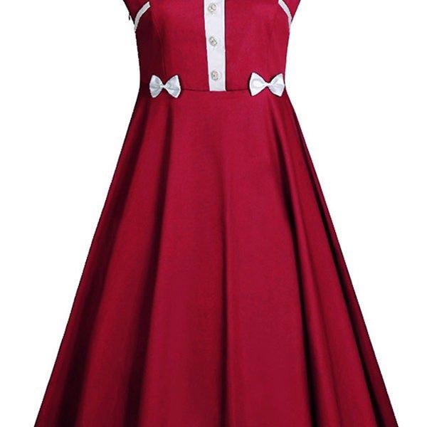 Hualong Cue Sleeveless Plus Size Casual Skater Dress