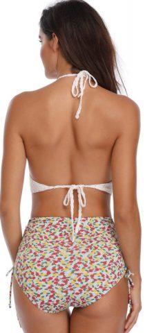 Hualong Sexy Halter Knitted Top Cute High Waisted Bikini