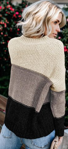 Hualong Long Sleeve Knitted Free People Pullover