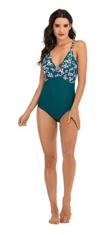 Hualong Sexy Strap High Waist Cheeky One Piece Swimsuit