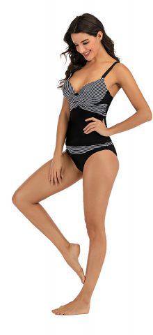 Hualong Sexy Strap Striped Plus Size Swimwear Tankinis