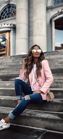Hualong Cute Long Sleeve Winter Pink Cheap Womens Blazer Jackets